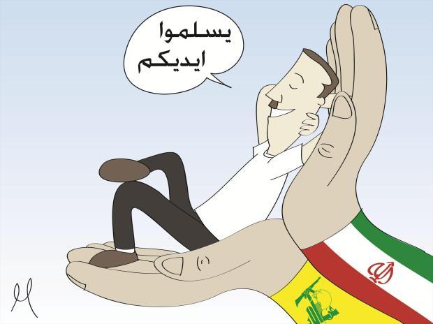 دعم إيران وحزب الله للسفاح بشار