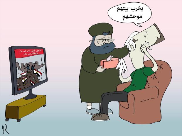 دموع التمساح لبشار الأسد