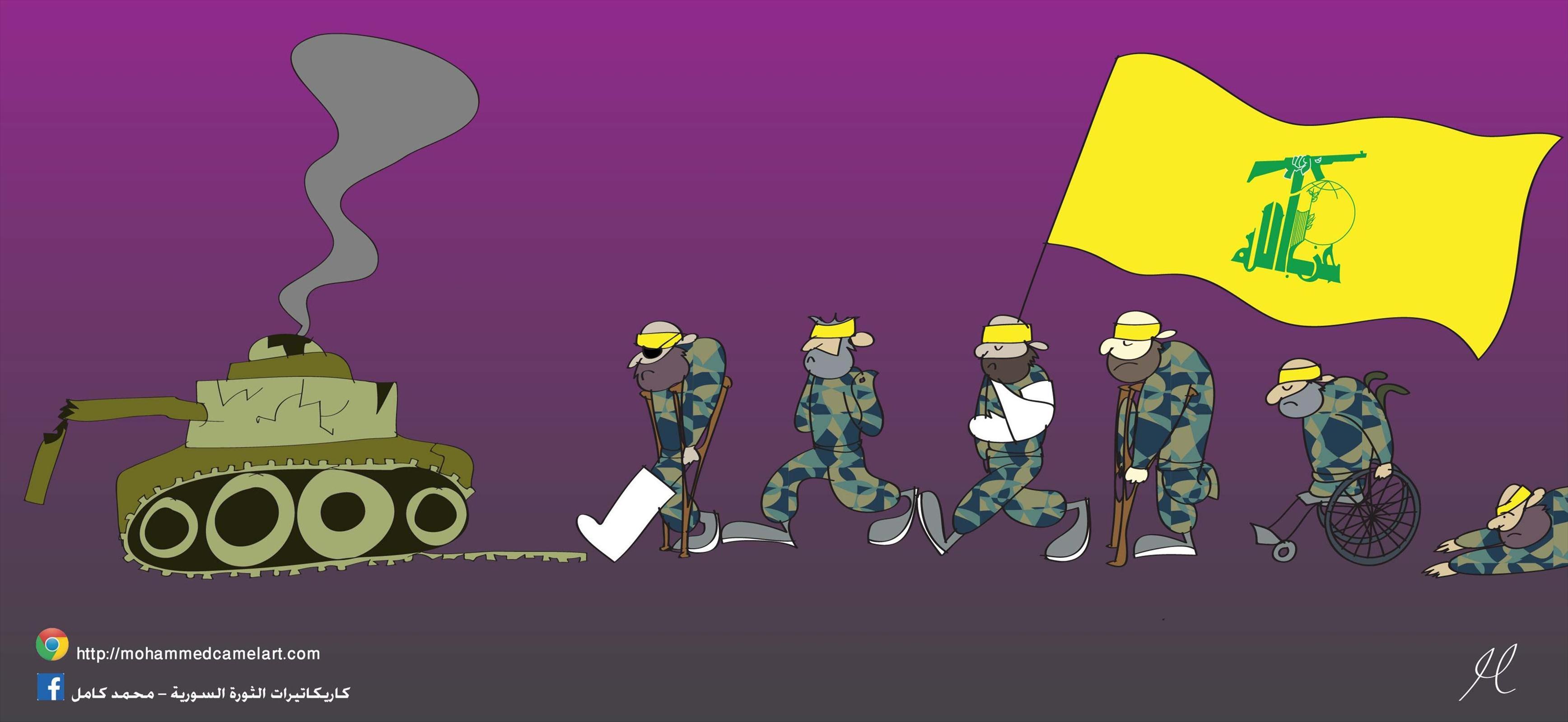 استعراض حزب الله فيسوريا